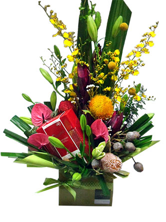 roses, chrysanthemum, lilies