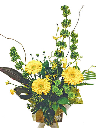 lemon-and-lime flower arrangement