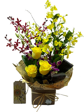 colourful flower arrangement