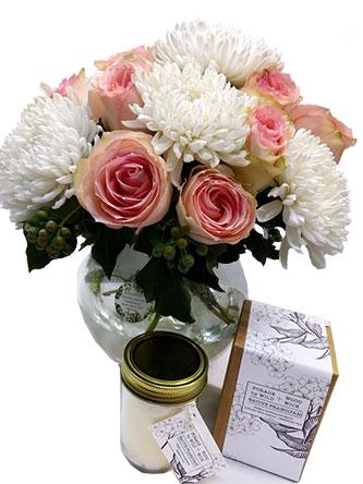 Flower Arrangement Soy Candle