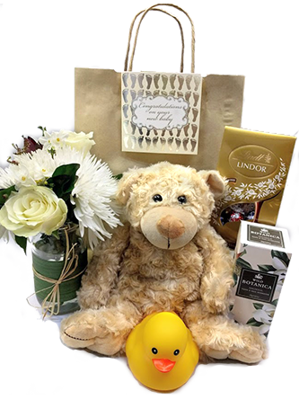 Gift Hamper with Flower and Teddy