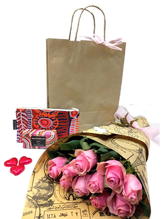 gift hamper with roses