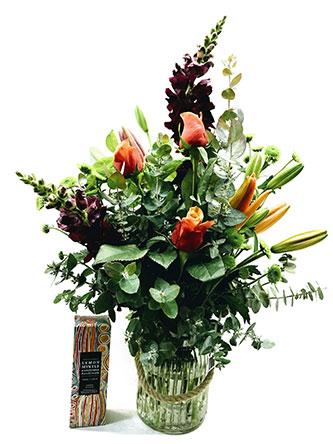 flower arrangement in a vase