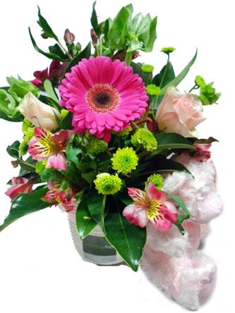 baby bliss flower arrangement for boy or girl