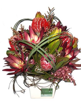 Boxfull of navite flowers and foliage