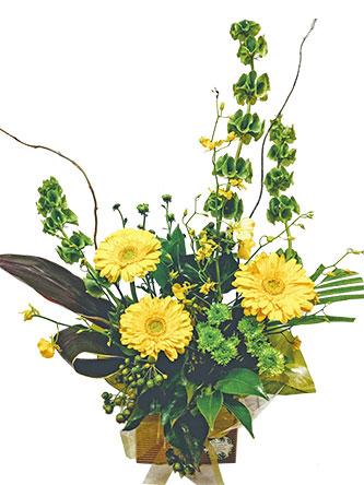 lemon-and-lime flower arrangement