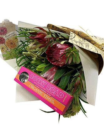 Rustic Rocky Road Flower Bouquet